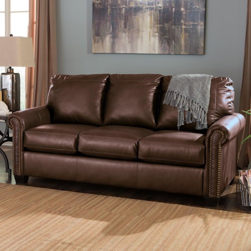 Signature Design By Ashley Lottie Durablend Transitional Bonded Leather Match 78 Full Sofa