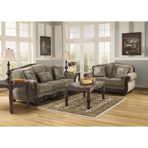 Signature Design By Ashley Martinsburg Meadow Stationary Living Room Group