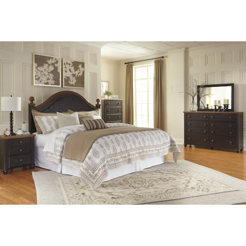 home bedroom group ashley signature design maxington king bedroom