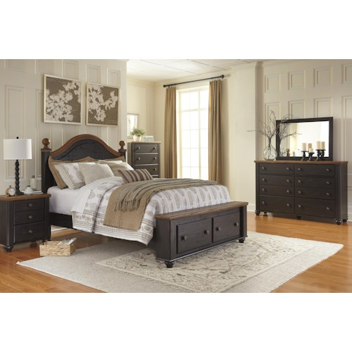 home bedroom group signature design by ashley maxington queen bedroom