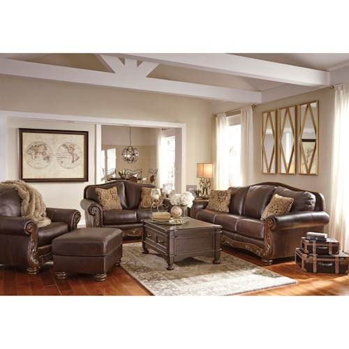 Ashley Signature Design Mellwood Stationary Living Room Group Dunk Br