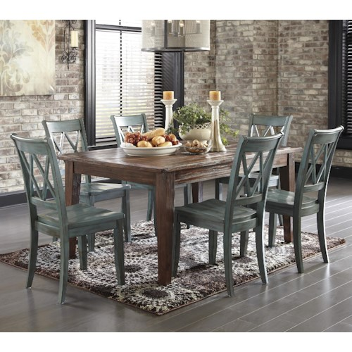 Signature Design By Ashley Mestler 7-Piece Table Set With