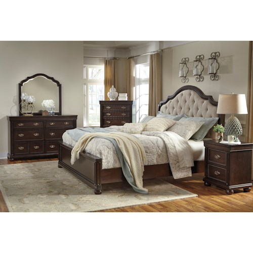 ashley moluxy queen bedroom group olinde 39 s furniture bedroom group
