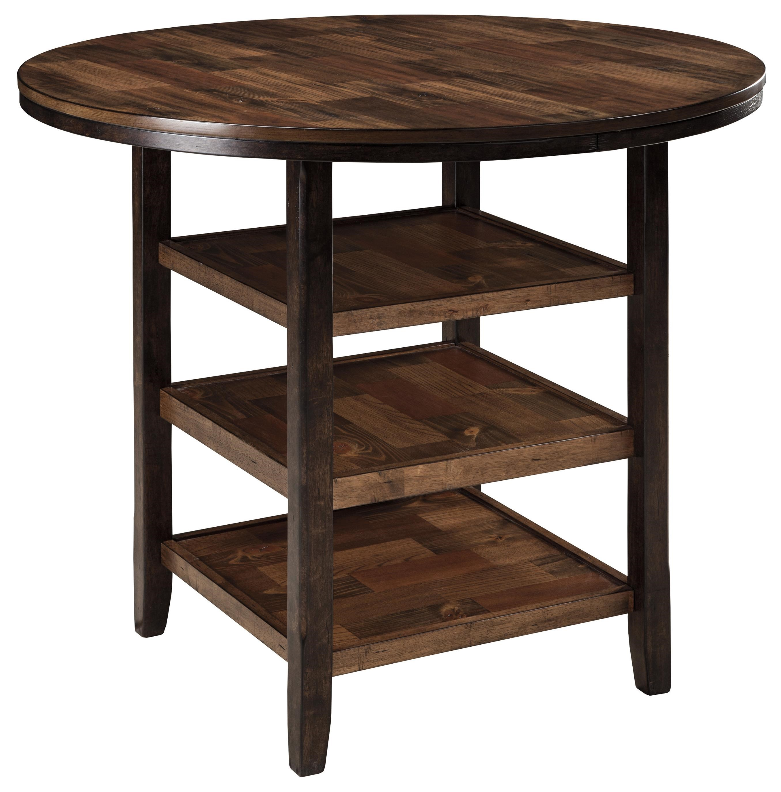 shelves butcher block inlay ivan smith furniture pub tables