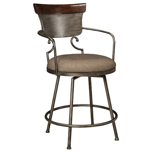 Signature design by ashley moriann barstool set of two royal furniture bar stools memphis Home bar furniture nashville tn