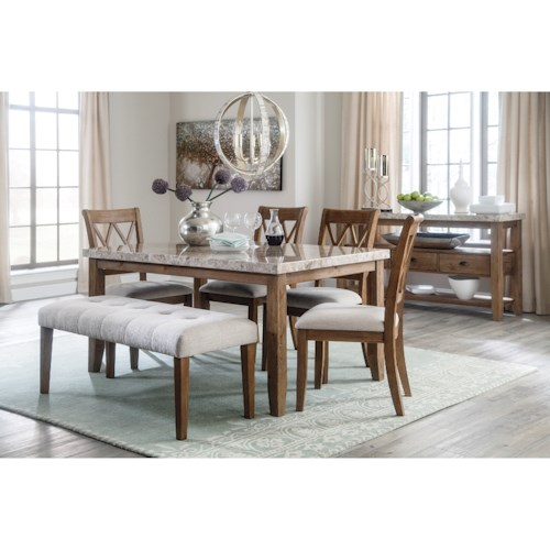 Styleline Narvilla Casual Dining Room Group Efo