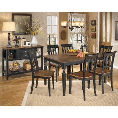 Ashley signature design owingsville casual dining room for Casual dining room furniture