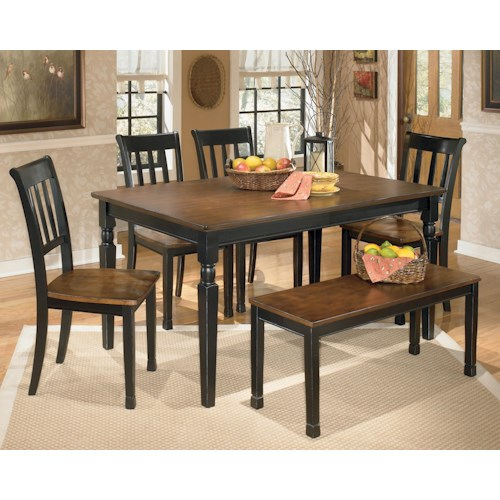 Ashley Furniture Chesapeake Va: Signature Design By Ashley Owingsville 6-Piece Rectangular