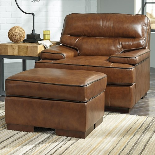 Signature design by ashley palner contemporary leather for Ivan smith furniture