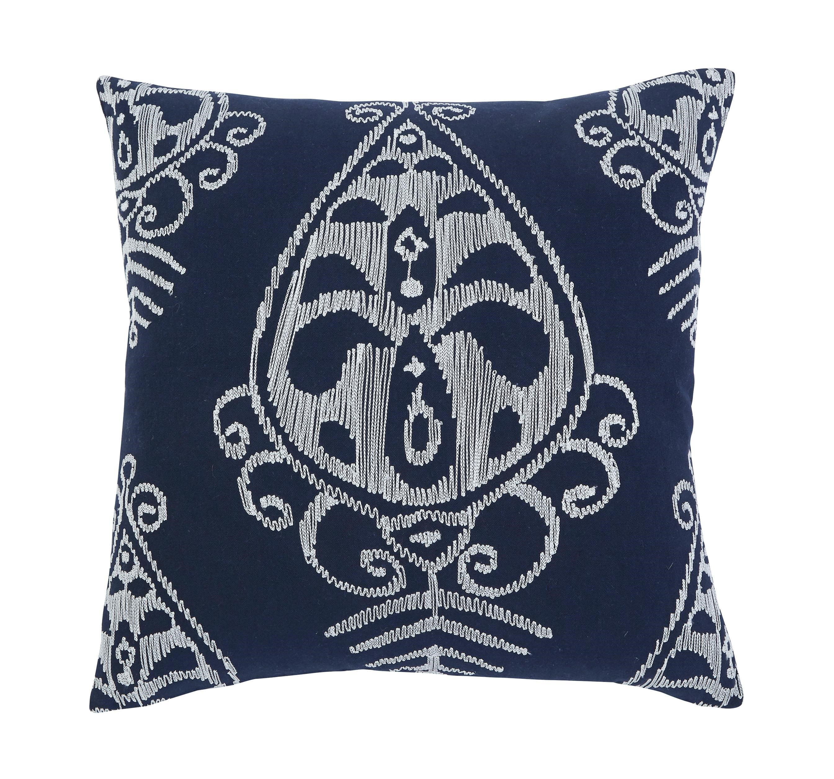 Signature Design by Ashley Pillows Embroidered - Navy Pillow Cover - Dream Home Furniture ...