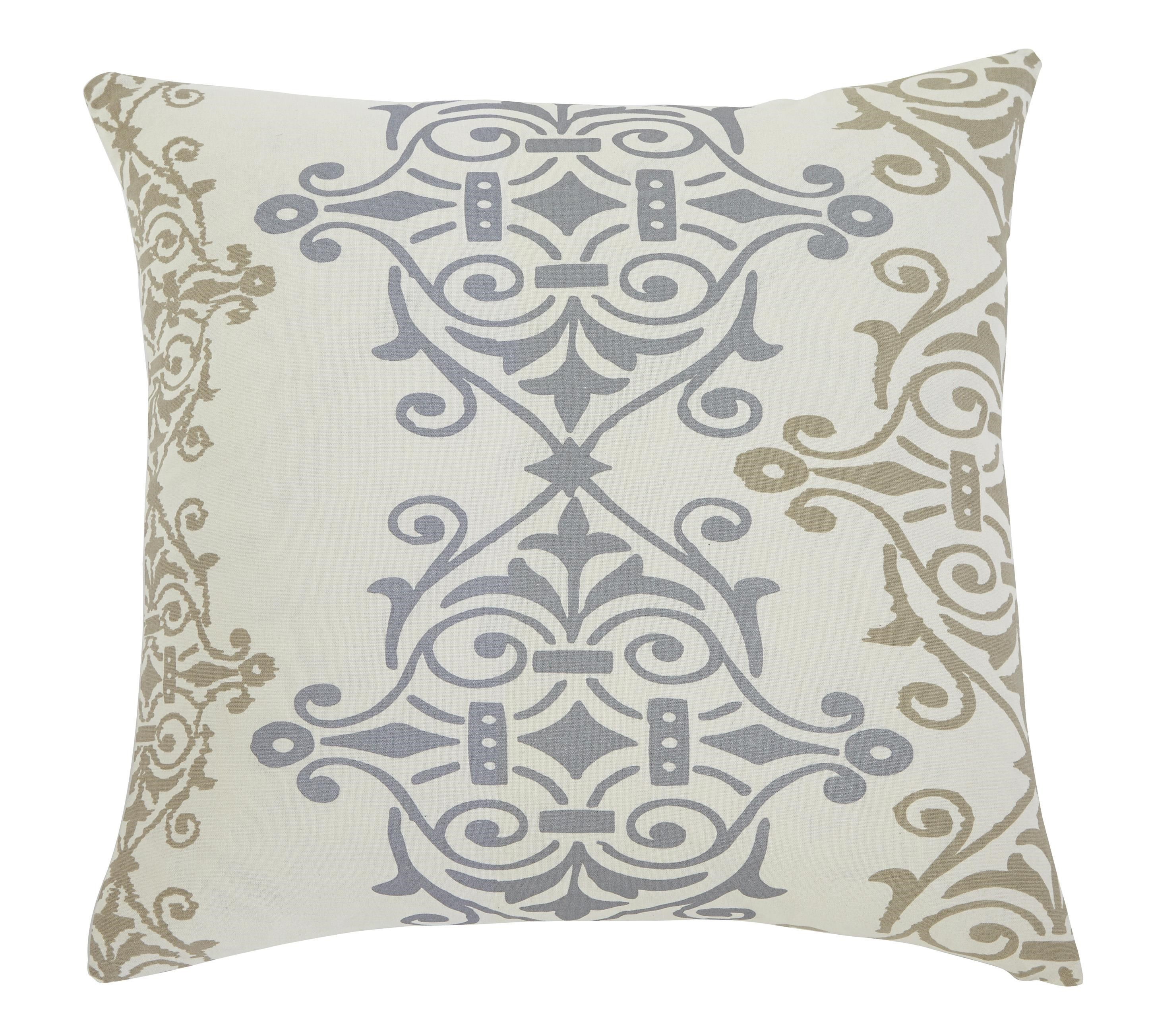 Signature Design by Ashley Furniture Pillows Scroll Gray