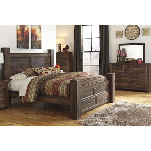 Signature Design By Ashley Quinden King Bed, Dresser And