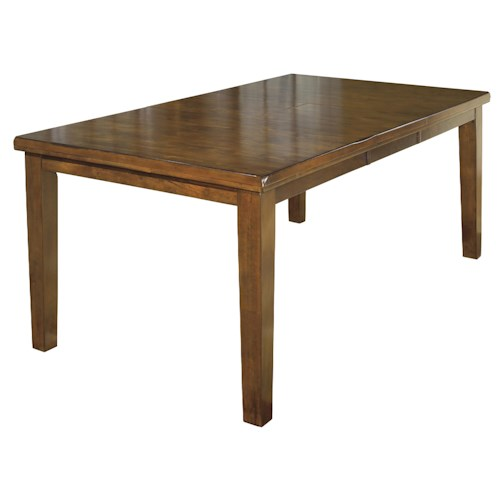 Signature design by ashley ralene casual rectangular for Rectangular dining room tables with leaves