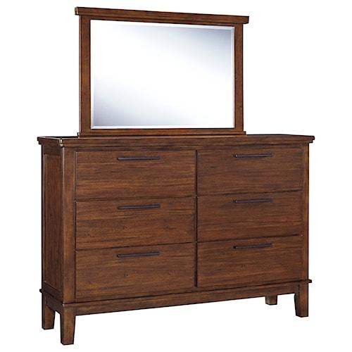 Signature Design By Ashley Ralene Dresser Bedroom Mirror Royal Furniture Dresser Mirror