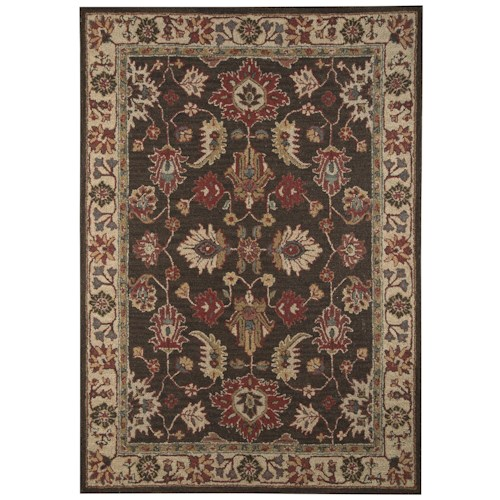 Signature Design By Ashley Traditional Classics Area Rugs R400101 Stavens Brown Large Rug