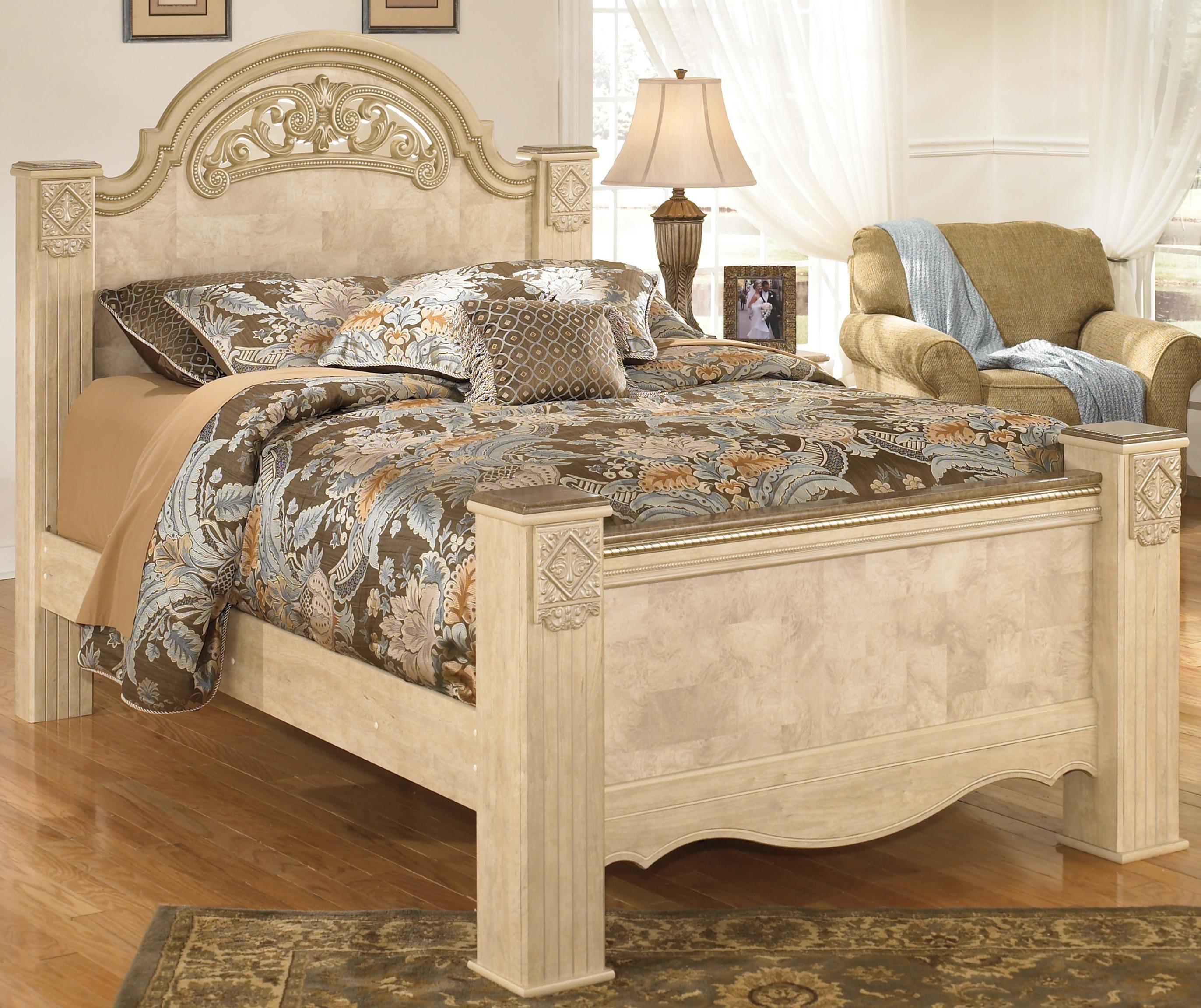 Signature Design by Ashley Saveaha King Poster Bed