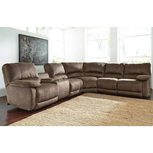 Signature Design By Ashley Seamus Power Reclining Sectional With Massage Ivan Smith Furniture