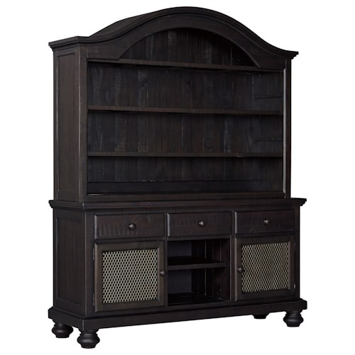 Signature Design By Ashley Sharlowe Solid Wood Dining Room Buffet Hutch