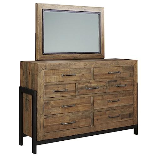 Signature Design By Ashley Sommerford Dresser Bedroom Mirror Del Sol Furniture Dresser