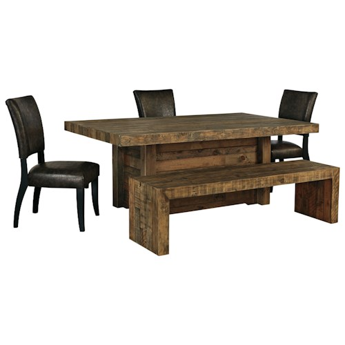 Signature Design By Ashley Furniture Sommerford 5 Piece Table Set With Bench Sam 39 S Appliance