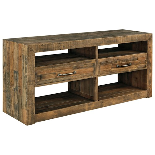 Signature Design By Ashley Sommerford Solid Wood Reclaimed Pine Dining Room Server Beck 39 S