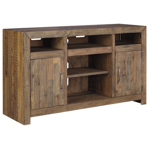Signature design by ashley sommerford reclaimed pine solid for Furniture 0 down