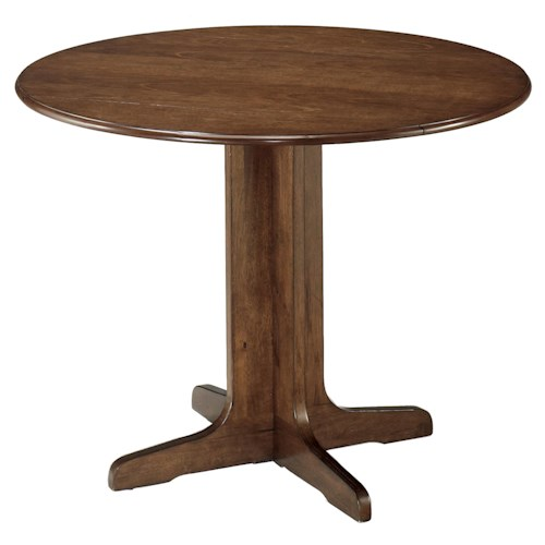 Signature design by ashley stuman round drop leaf table for Hgg 5pc drop leaf kitchen dining table set