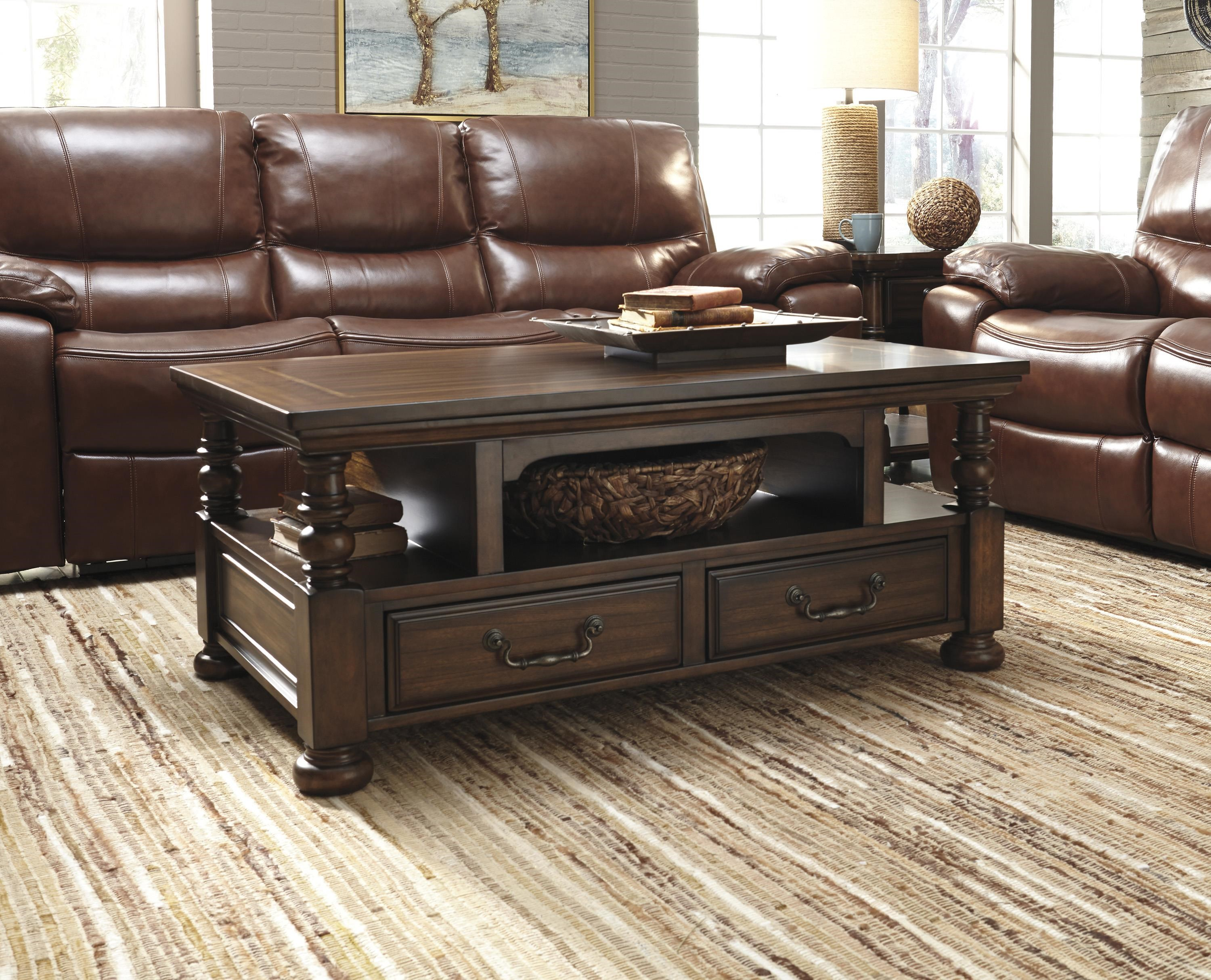 Signature Design by Ashley T638 Cocktail Table - Ivan Smith Furniture - Cocktail or Coffee Table