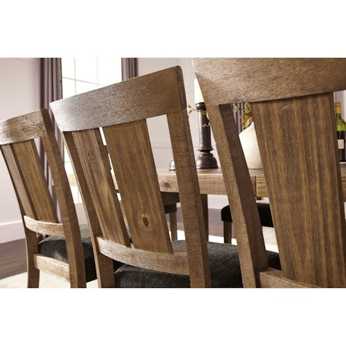 Signature Design By Ashley Tamilo 7 Piece Table Chair Set With Leaf Royal Furniture Dining