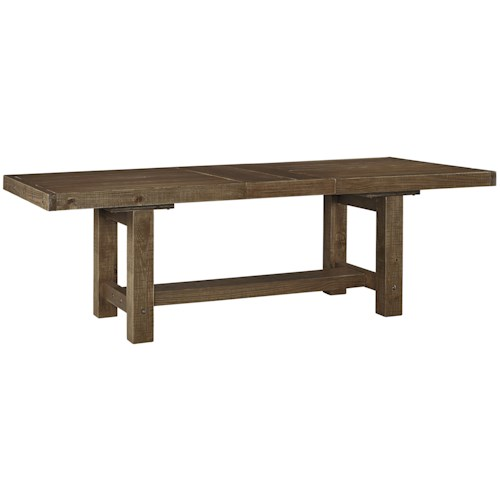 Signature Design By Ashley Tamilo Rectangle Dining Room Table With Leaf Knight Furniture