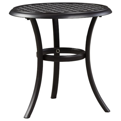 Signature design by ashley tanglevale outdoor round end for Outdoor furniture end tables