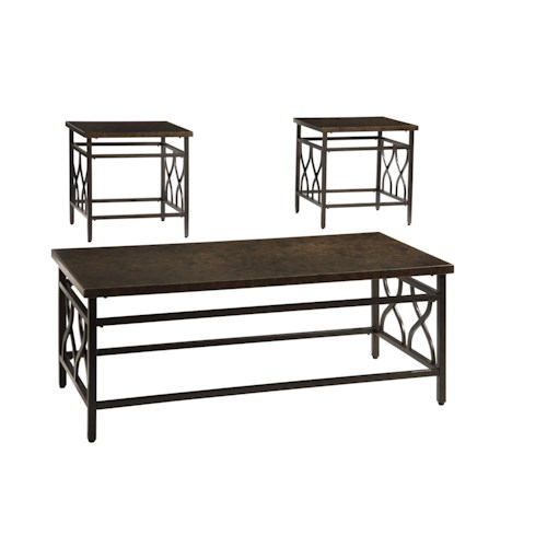 Signature Design By Ashley Tippley Casual Occasional Table Set Ivan Smith Furniture
