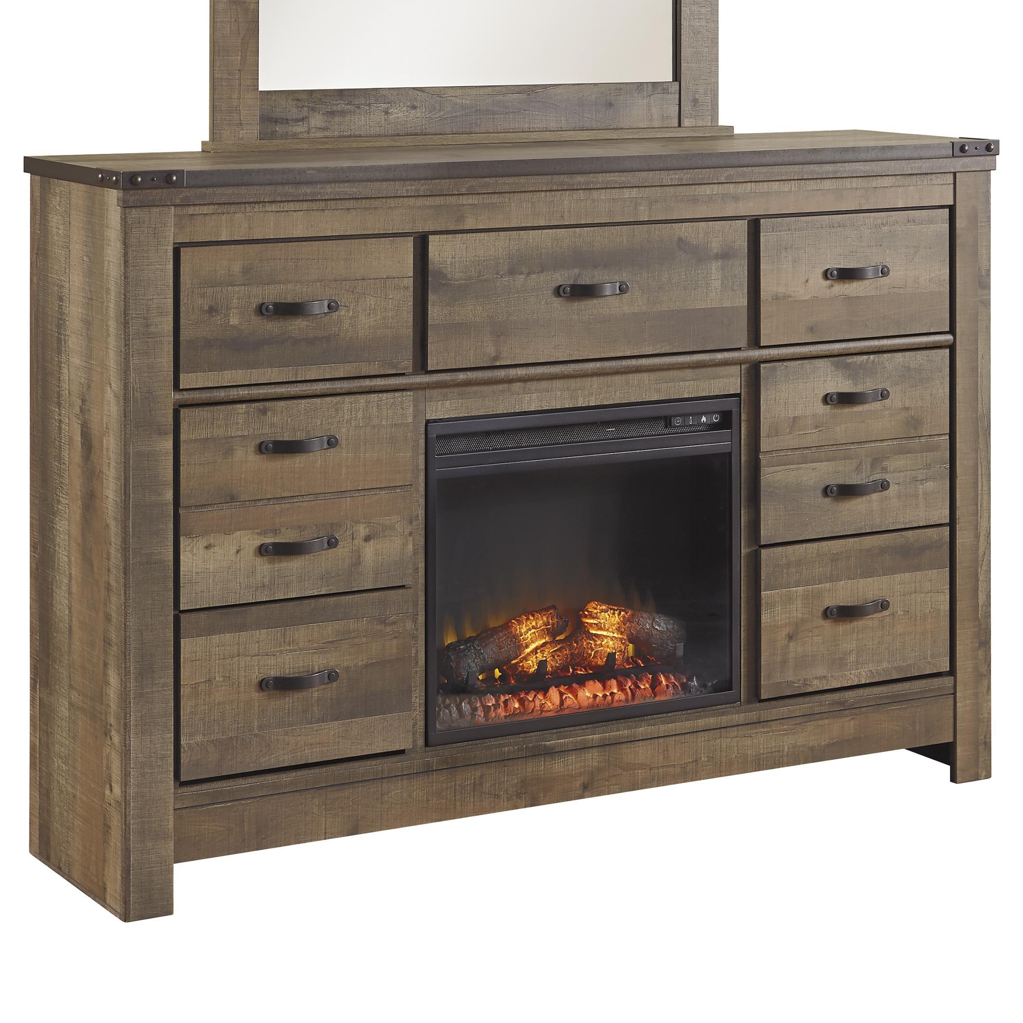 Ashley Signature Design Trinell Rustic Look Dresser with
