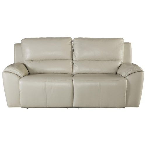 Signature Design By Ashley Valeton Contemporary Leather Match 2 Seat Reclining Power Sofa Zak