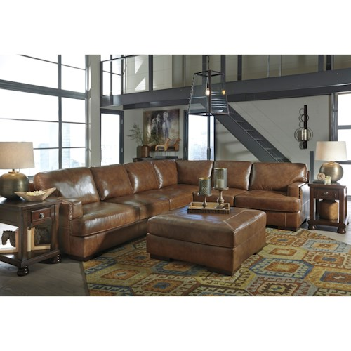 Signature Design By Ashley Vincenzo Stationary Living Room Group Del Sol Furniture
