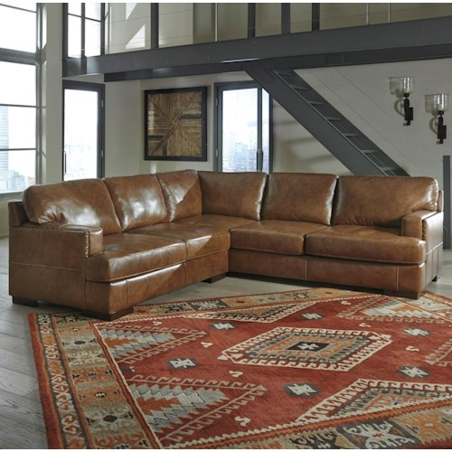 Signature Design By Ashley Vincenzo 2 Piece Sectional Del Sol Furniture Sofa Sectional