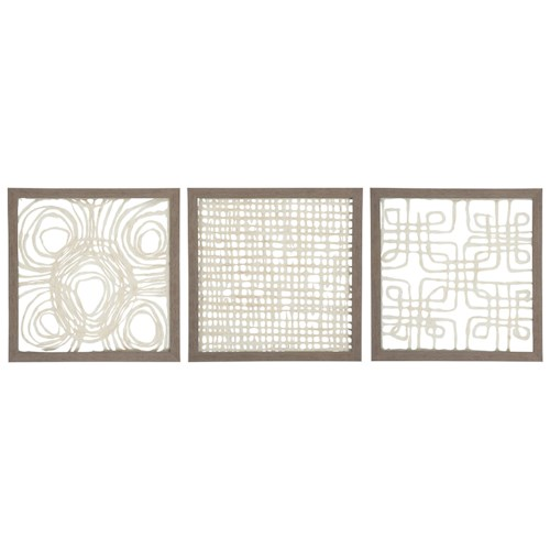 Signature design by ashley wall art a8010009 3 piece for Kitchen colors with white cabinets with buddha 3 piece wall art