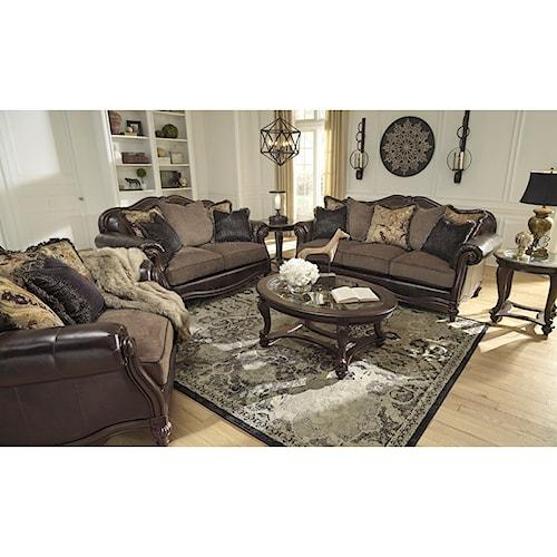 Signature Design By Ashley Winnsboro Durablend Stationary Living Room Group Rotmans
