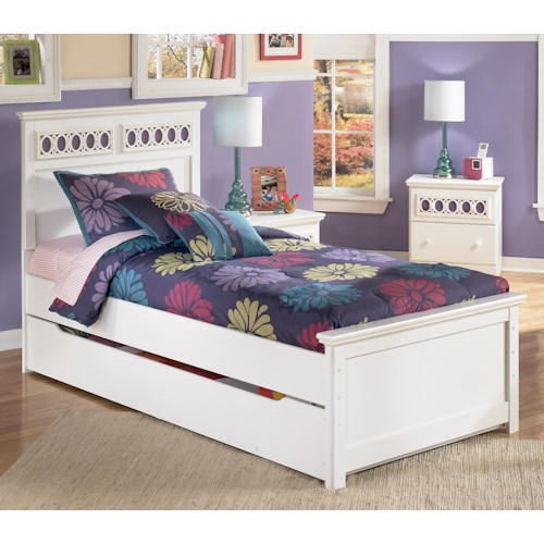 Signature Design By Ashley Zayley Twin Platform Bed With Trundle Storage Box Customizable