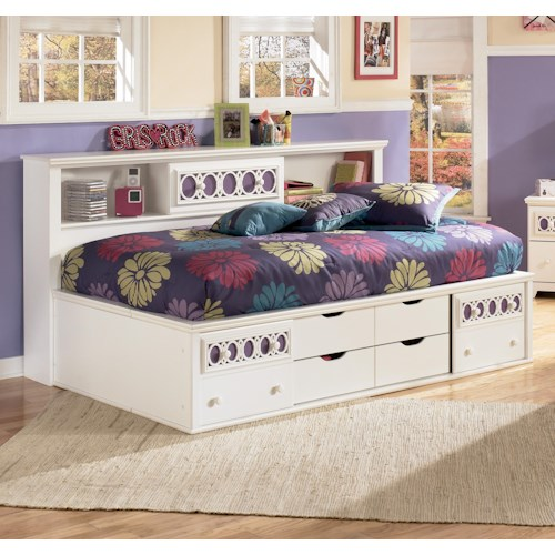 signature design by ashley zoey twin storage daybed rotmans captain 39 s bed worcester boston. Black Bedroom Furniture Sets. Home Design Ideas