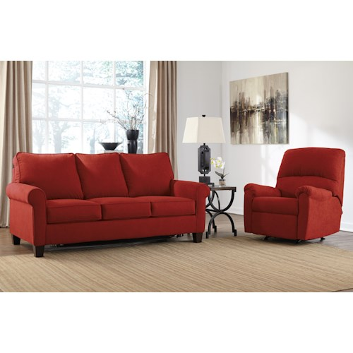 Ashley Zeth Crimson Stationary Living Room Group Wayside Furniture