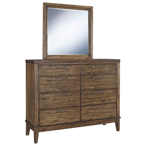 Signature Design By Ashley Zilmar Dresser Bedroom Mirror
