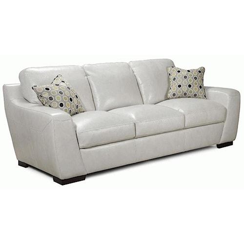 Simon Li Alpha Stationary Leather Match Sofa With Fabric