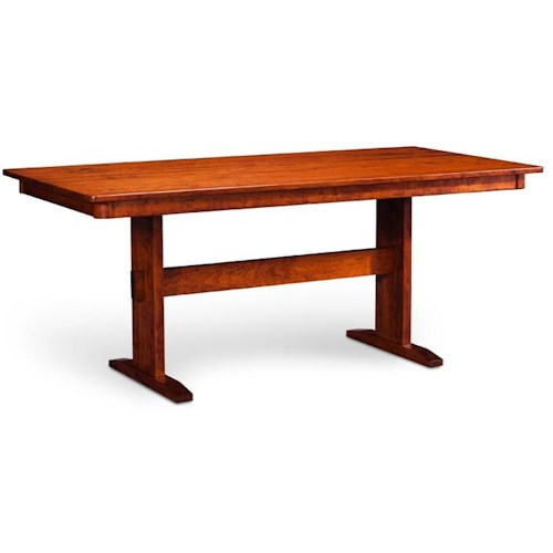 Simply Amish Express Shenendoah Trestle Ii Table Mueller Furniture Dining Room Table St