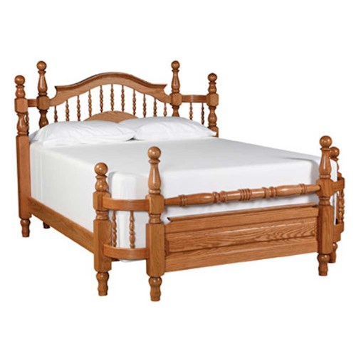 Simply amish country queen spindle wrap around bed for Wrap around sofa bed