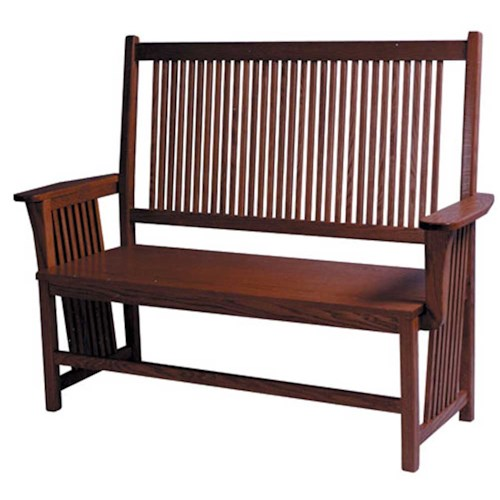 Simply Amish Prairie Mission Prairie Mission Bench Dunk Bright Furniture Bench