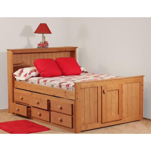 Simply Bunk Beds Pine Full Bookcase Captain 39 S Bed Wayside Furniture Captain 39 S Bed