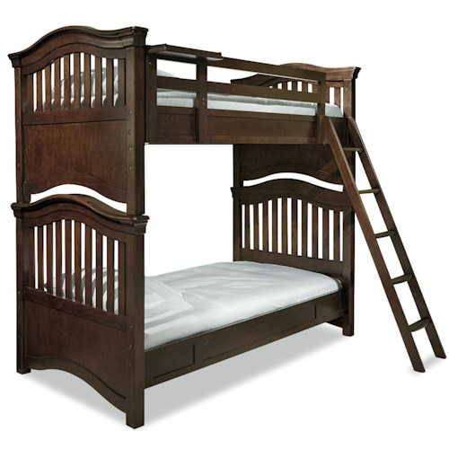 Smartstuff Classics 4 0 Twin Over Twin Bunk Bed With Guard