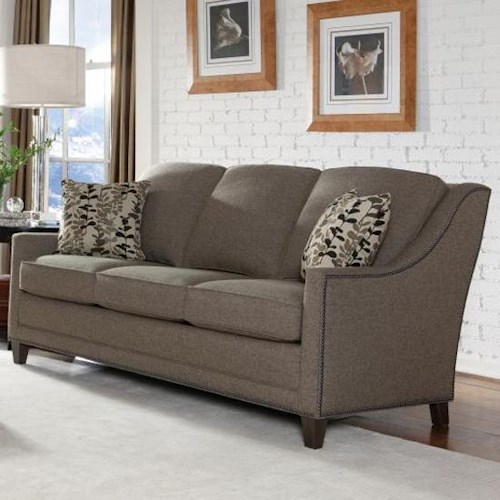 Smith Brothers 201 Style Group Contemporary Sofa With