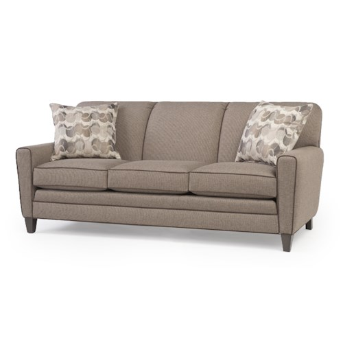 Smith Brothers 225 Sofa With Tapered Track Arms Wayside